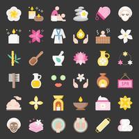 Wellness Spa e sauna elementi, icona del design piatto
