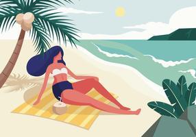 Persona che gode dell'estate