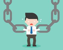 Uomo d'affari e grande catena