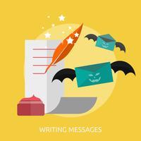 Disegno concettuale dell'illustrazione dei messaggi di scrittura