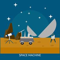 Progettazione concettuale dell'illustrazione della macchina dello spazio vettore