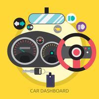 Progettazione concettuale dell'illustrazione del cruscotto dell'automobile