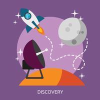 Disegno concettuale dell'illustrazione di scoperta