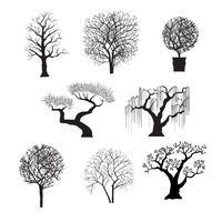 sagome di alberi per il design vettore