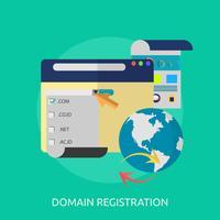 Progettazione dell'illustrazione concettuale di registrazione di dominio vettore