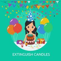 Estingua la progettazione concettuale dell'illustrazione delle candele