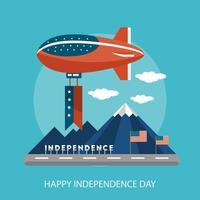 Progettazione concettuale felice dell'illustrazione di festa dell'indipendenza