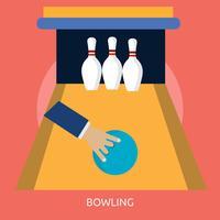 Progettazione concettuale dell'illustrazione di Bowling 2 vettore