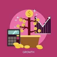 Progettazione dell'illustrazione concettuale di crescita