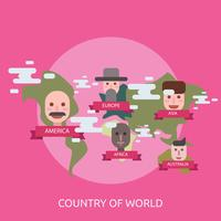 Paese di design illustrazione mondo concettuale vettore