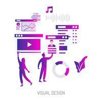 Progettazione concettuale dell'illustrazione di progettazione visiva vettore