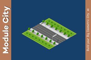 Intersezione di strade cittadine vettore