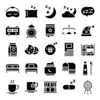 Pacchetto icone per dormire vettore