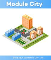 Intersezione 3D isometrica città
