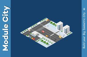 Isometrica della città moderna