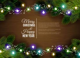 Saluti di stagione di decorazione di luci natalizie