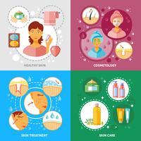Set di icone di trattamento della pelle vettore