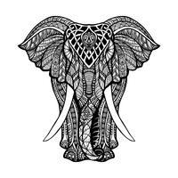 Illustrazione di elefante decorativo vettore