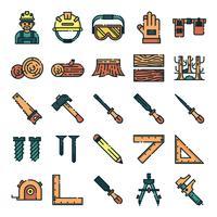 Pacchetto icone carpentiere