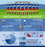 Infographic Soccer Con Team And Gate vettore