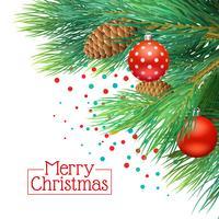 Sfondo di rami di albero di Natale vettore