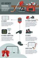 Banner di layout di hockey su ghiaccio infografica vettore