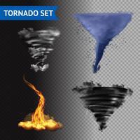 Insieme realistico di tornado 3d vettore