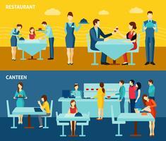 Ristorazione pubblica 2 banner orizzontali piatti