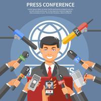 Concetto di conferenza stampa vettore