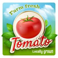 Poster promozionale di pomodoro