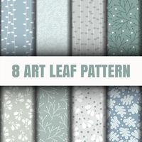 Set 8 Fantasia foglie