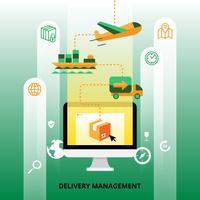 Illustrazione di gestione della consegna