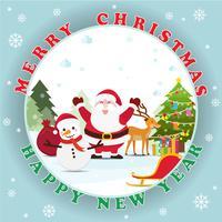 Natale e anno nuovo sfondo di decorazione