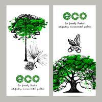 Set di banner di ecologia vettore
