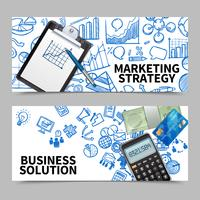 Set di banner di marketing vettore
