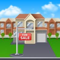 Casa in vendita illustrazione vettore