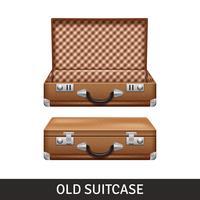 Vecchia illustrazione della valigia