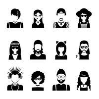 Subculture Persone in bianco e nero vettore