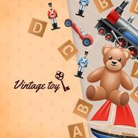 Sfondo di giocattoli vintage vettore