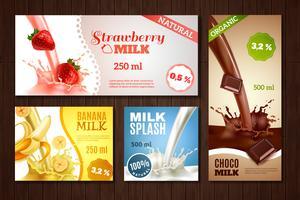 Set di banner di latte