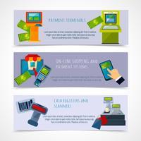 Set di banner di pagamento ATM vettore