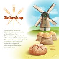 Illustrazione di sfondo di pane vettore