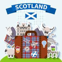 Scozia viaggio sfondo vettore