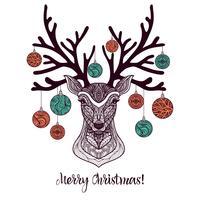 Cervi di Natale colorati