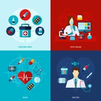 Set piatto medico vettore