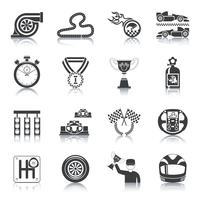icone da corsa nere vettore
