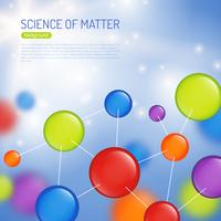 Illustrazione di sfondo di scienza vettore