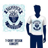 T-shirt design lettering vettore