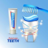 Concetto dentale di protezione dei denti