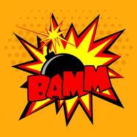 Illustrazione di bomba comica vettore